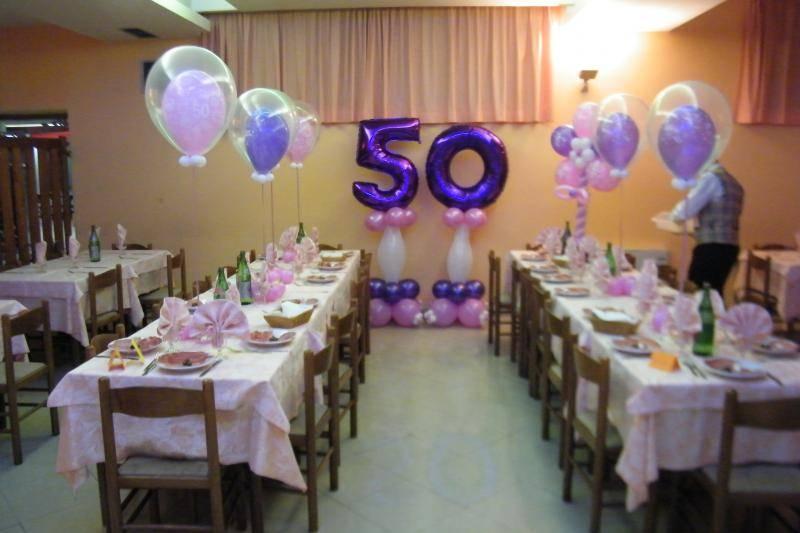 Festa 50 Anni Addobbi Auguri Telefoonreparatiedelft