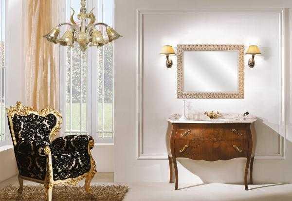 mobili bagno anticati noce foglia barocco claris vomero napoli