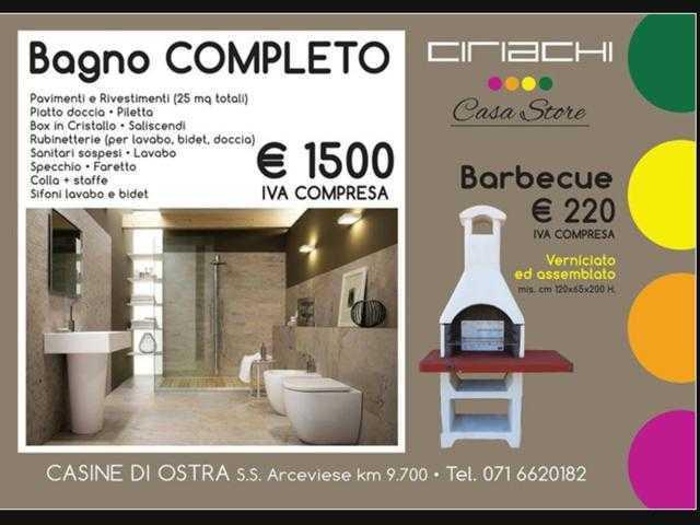 bagno completo e. 1500.00 - ciriachi stufe a pellet - edilizia - Arredo Bagno Senigallia