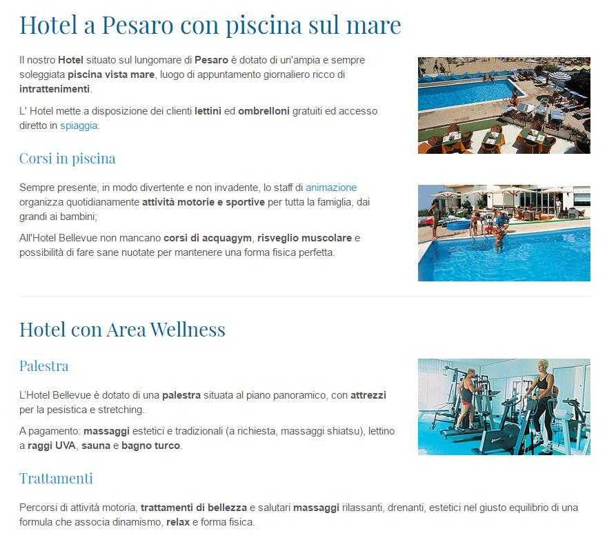 Hotel bellevue camere vista mare pesaro - Hotel sul mare con piscina ...