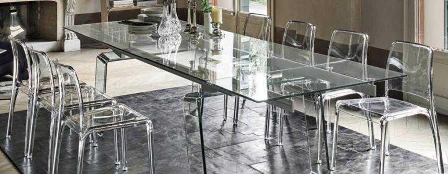 Tavoli e sedie moderne classiche in legno e vetro for Sedie moderne per tavolo in legno